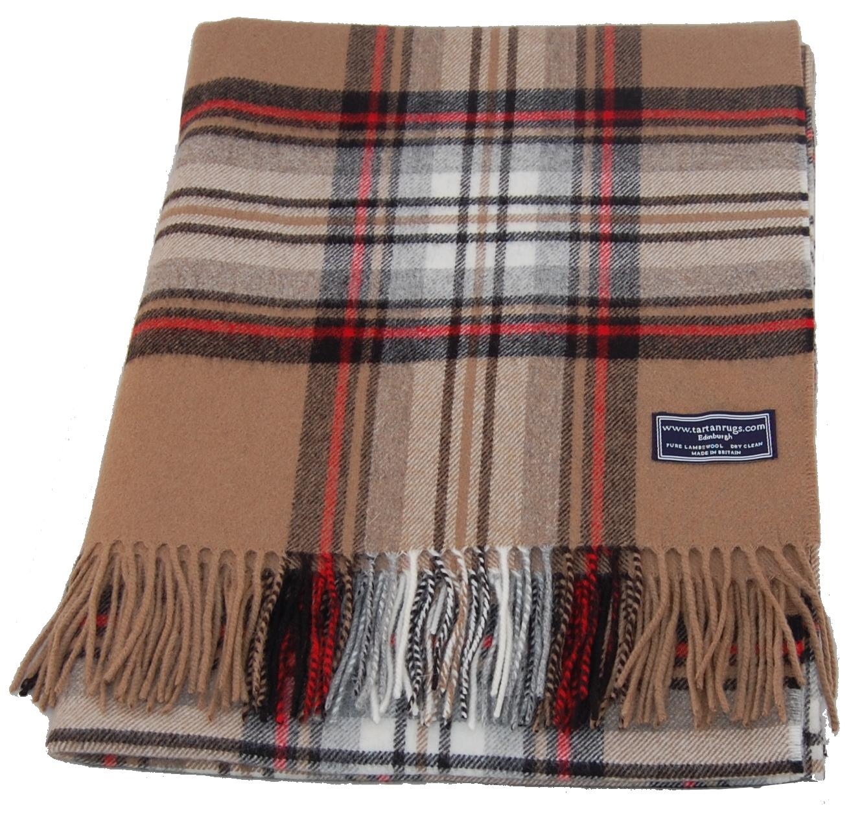 muted blue stewart tartan lambswool travel rug. Black Bedroom Furniture Sets. Home Design Ideas