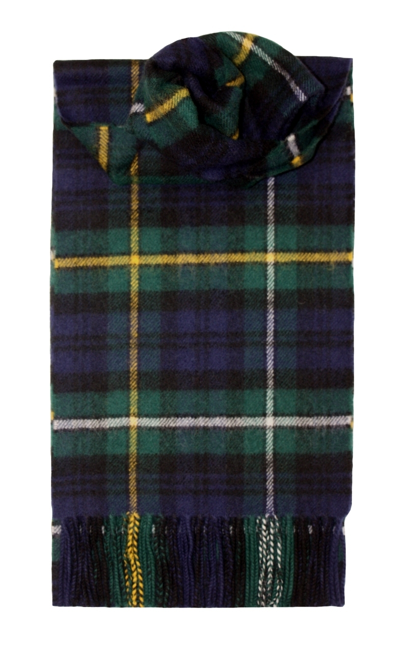 Lochcarron Campbell Of Argyll Clan Tartan Lambswool Scarf